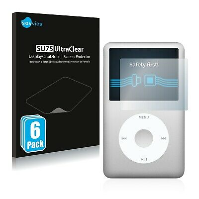 6x Savvies Screen Protector for Apple iPod classic 160 GB 7. Generation Ultra