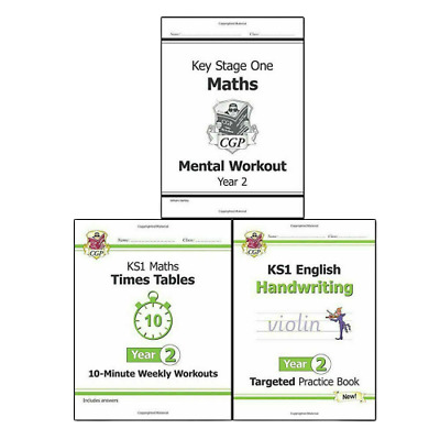 KS1 New Curriculum Year2 Collection 3 Books Set Maths, English,Spelling CGP Book