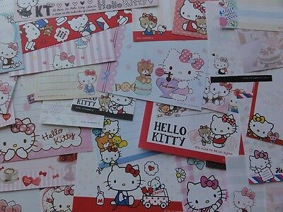 HELLO KITTY MEMO 50 Note Paper kawaii stationery gift girl her sanrio Lot SALE