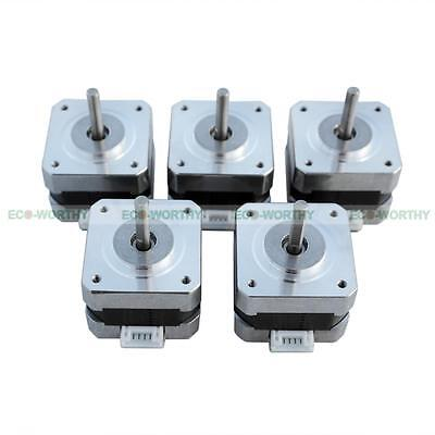 5 Pieces NEMA 17 1.8 Degree Stepper Motors 2 Phase 4-Lead for CNC Prusa Rostock