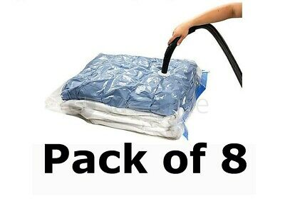 PACK OF 10 VACUUM COMPRESSED STORAGE BAGS SPACE SAVING CLOTHES BEDDING 50 x 70cm