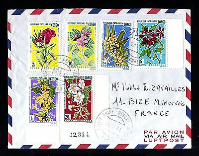 13645-CONGO REPUBLIC-AIRMAIL COVER POINTE NOIRE to MINERVOIS (france)1971.Aerien
