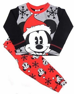 Toddler Mickey Mouse Christmas Pyjamas 12-18m 18-24m 2-3y 3-4y