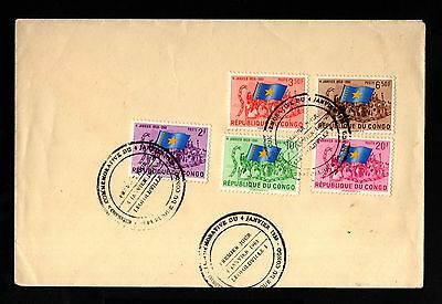 13621-CONGO REPUBLIC-FIRST DAY COVER LEOPOLDVILLE.1961.REPUBLIQUE du CONGO.
