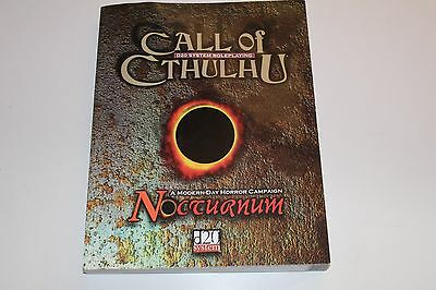 CALL OF CTHULHU Nocturnum RPG Role Playing Game D20 System Roleplaying