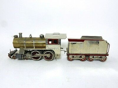 Lionel #7 Brass Engine And Nickel Tender (Cohen Reproduction)