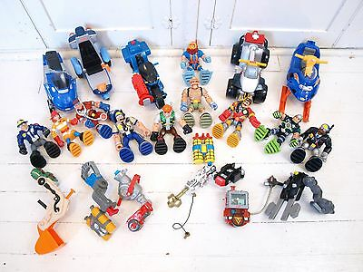 23 PC RESCUE HEROS Vehicle Backpack Figure Accessory LOT snowmobile