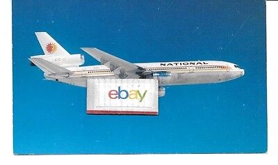National Airlines Douglas Dc-10 Trijet Widebody Sunking Livery Postcard
