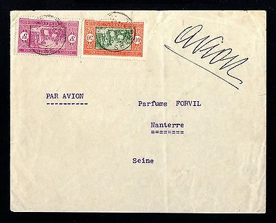 13296-SENEGAL-AOF-AIRMAIL COVER DAKAR to NANTERRE(france).1938.French colonies