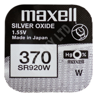 GENUINE Maxell 370 SR920W Silver Oxide Watch Battery 1.55v [1-pack]
