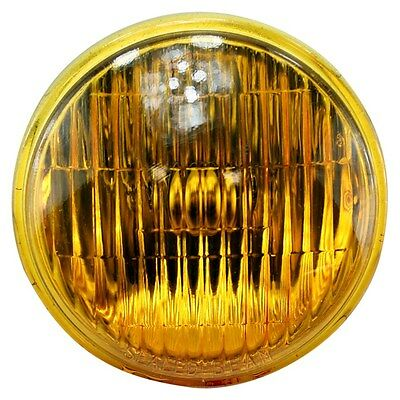 "4.5"" Amber Sealed Beam Headlamp Bulb bobber chopper fog lamp headlamp sportster"