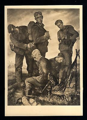 13596-GERMAN EMPIRE-WWII.'SS' art postcard`GERMAN SOLDIERS´Hoffm.DEUTSCHES REICH