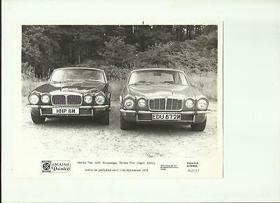 Daimler Series Two Sovereign And Xj6L Press Photo 'brochure Connected'sept.1973