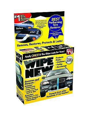 Wipe New Trim Restorer As Seen on TV Auto Cleaner Protects Shines Heavy Duty Kit