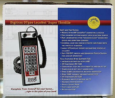 Any Scale DIGITRAX  DT500 LocoNet Super Throttle ** Programming & 29 Functions