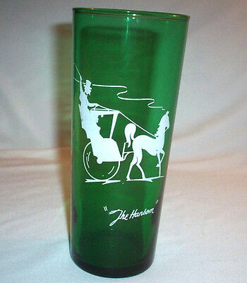 Anchor Hocking FOREST GREEN: The Hansom: Tall Glass: EXC: NR