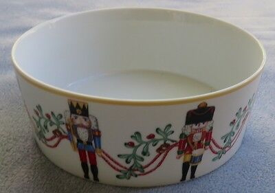 Block Spal Whimsy Christmas Vegetable Serving Bowl Portugal Nutcrackers