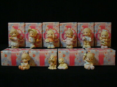 t Precious Moments-VERY RARE Complete 10 Piece Family Set