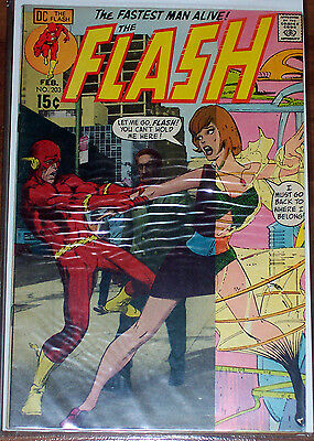 FLASH #203 (VF+) Superman Appearance! Barry Allen! Classic Neal Adams Cover!