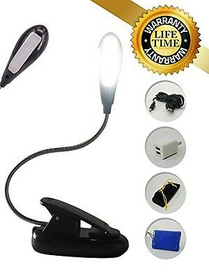 Rechargeable USB Reading Lamp for Bed - Portable Book Light - 4 Super-Bright LED