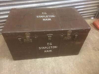 Large old antique Steamer Storage Trunk with inner tray coffee table toy store