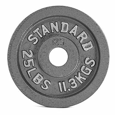 """Cap Barbell Olympic 2"""" Weight Plate Gray 2.5 Lbs (1.1 Kgs) Single New"""