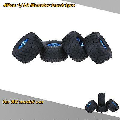 4Pcs/Set 1/10 Monster Truck Tire Tyres for Traxxas HSP Tamiya RC Model Car H0P0