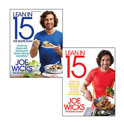 Joe Wicks Collection Lean in 15 Minute Meals Body Coach 2 Books Set NEW