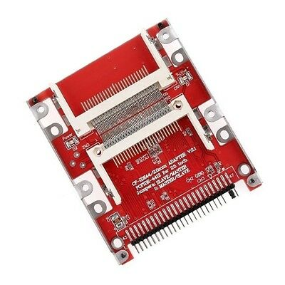"""Dual CF Compact Flash to 44 pin IDE 2.5"""" Male Adapter - UK seller"""