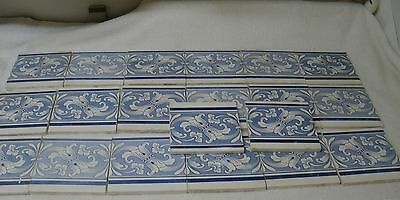 "30 vintage/antique VILLEROY & BOCH - (Mettlach) TILES 6 X 6""  blue & white, used"