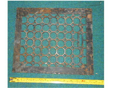 VINTAGE CAST IRON FLOOR HEATING GRATE AIR VENT ORNATE art deco