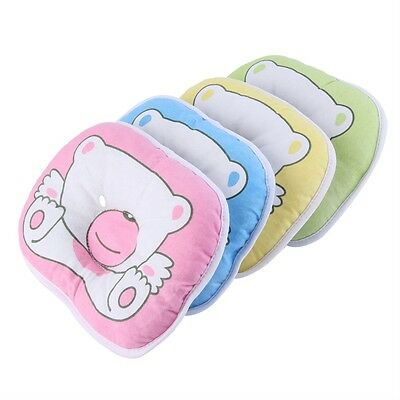 Bear Pattern Pillow Newborn Infant Baby Support Cushion Pad Prevent Flat Head FB