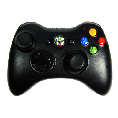 ORIGINAL XBOX 360 WIRELESS CONTROLLER in SCHWARZ