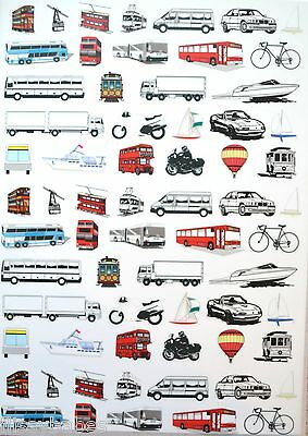 2 x A4 Transport Patterned Vellum NEW