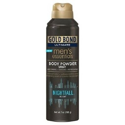Gold Bond Ultimate Men's Essentials Body Powder Spray Nightfall Scent