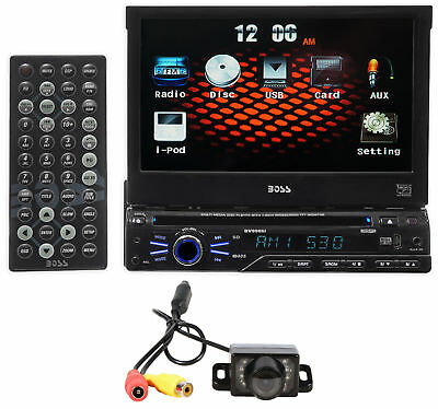 "Boss BV9965I 1-Din 7"" In-Dash Monitor, DVD/CD AM/FM Receiver,USB,SD,iPod+Camera"