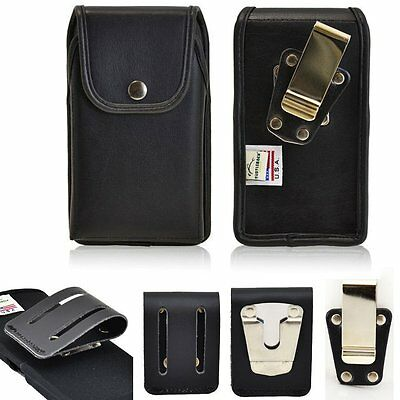 Turtleback Genuine Leather USA Made Vertical Snap Case fits iPhone 7 LifeProof