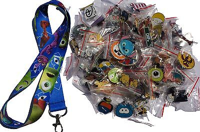 Disney World Pin Trading Lot Lanyard Starter Set Monsters University w/ 25 Pins