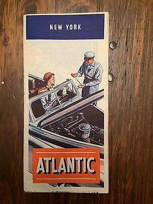 1949 Atlantic HI-ARC Gas Station NEW YORK Road Map