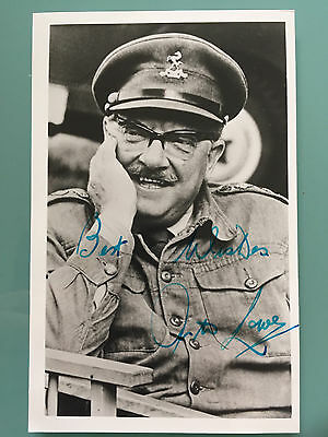 Arthur Lowe DADS ARMY signed autographed photo Captain Mainwaring BBC RARE