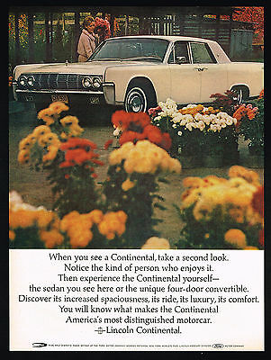 1964 Lincoln Continental Car Photo Take A Second Look Vintage Color Print Ad