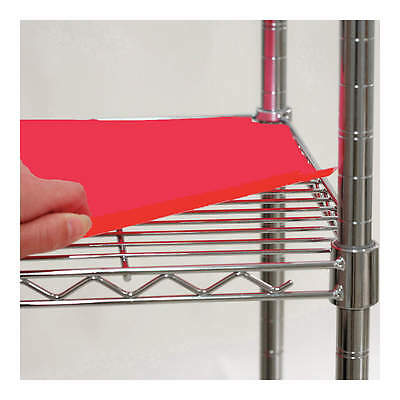 """5GRH6 Plastic Shelf Liner Red PK4 60"""" x 24"""" NFS PACK OF 4 LINERS"""