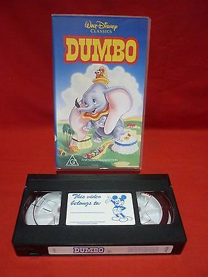 Dumbo Vhs Video Tape Hard To Find Original Edition