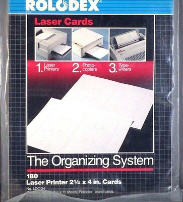 ROLODEX Laser Cards PRINTER PHOTOCOPY TYPING 150 Cards 25 SHEETS
