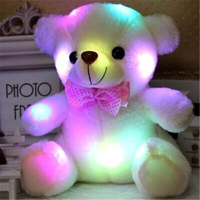 Stuffed Night Light Plush Lovely Holiday Teddy Bear Soft Gift Doll Baby Toy S
