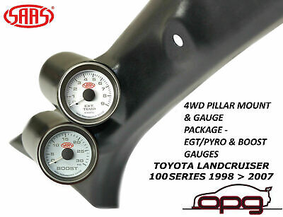 Saas Pillar Pod Gauge Pack Suits Toyota Landcruiser 100 Series 98>07 Egt & Boost