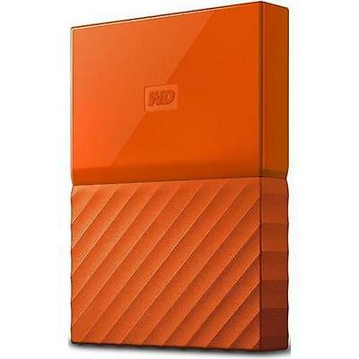 WD My Passport WDBYNN0010BOR-WESN 1 TB External Hard Drive - USB 3.0 - Orange
