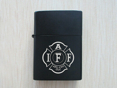 Black IAF Fire Fighters Firefighting Polished Chrome Finished Lighter New