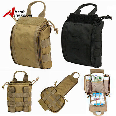 1000D Tactical Molle EMT Medical First Aid Pouch Case Emergency Tools Bag BK/Tan