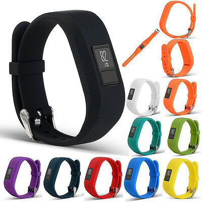 For Garmin Vivofit 3 Replacement Silicone Wrist Bracelet Band Strap Metal Buckle